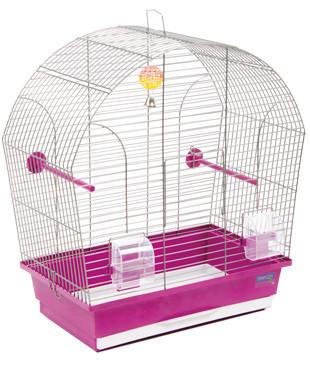 Клетка ЛИНА для мелких декоративных птиц, хромированное, 44х27х54 см