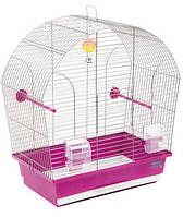 """Клетка """"Лина"""" для мелких декоративных птиц, хромированное, 44х27х54 см"""