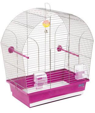 Клетка ЛИНА для мелких декоративных птиц, хромированное, 44х27х54 см, фото 2