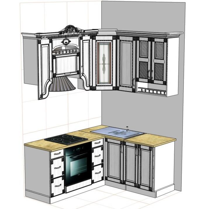 Кухня Верона. От проекта до готовой работы.