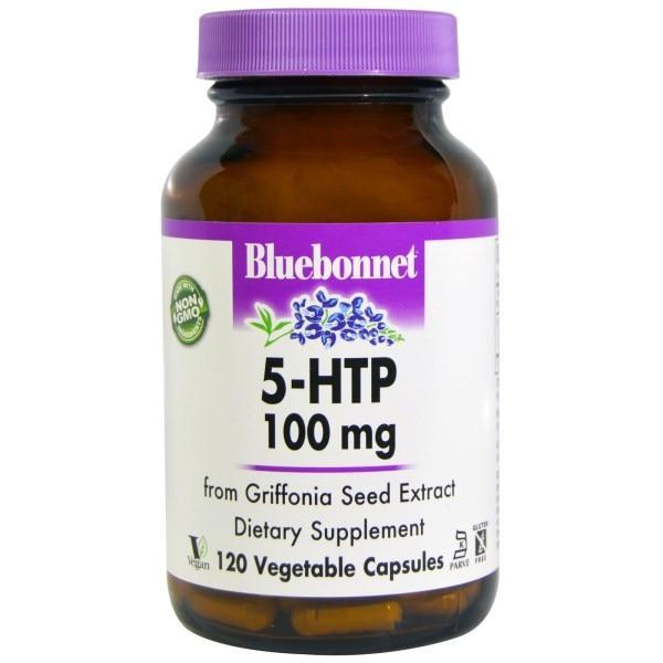 Bluebonnet Nutrition, 5-Гидрокситриптофан, 100 мг, 120 вегетарианских капсул