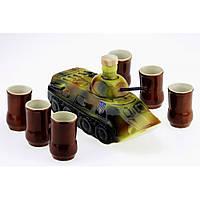 Коньячный набор БТР Танк 7 предметов Керамика