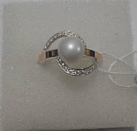 Кольцо из серебра и золота Вега
