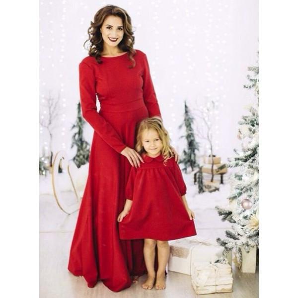 8799f8d4b4964d6 Красивое красное платье в пол мама+дочка из дайвинга: продажа, цена ...