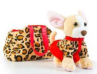 Мягкая игрушка Тигрес Собачка чихуахуа с сумочкой в платье (СО-0102)