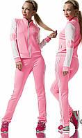 Женский розовый спортивный костюм Адидас