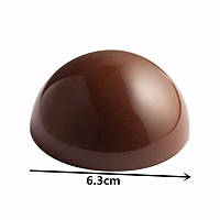 Полусфера поликарбонат форма для  шоколада из 8ми