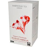Hampstead Tea, Гибискус и Шиповник, 20 Пакетиков, 1.06 унция (30 г), купить, цена, отзывы