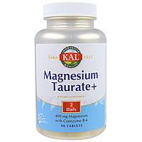 KAL, Таурат магния+, 400 мг, 90 таблеток, купить, цена, отзывы