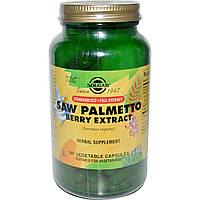 Solgar, Экстракт ягод со пальметто, 180 капсул на растительной основе, купить, цена, отзывы
