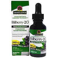 Nature's Answer, Черника-20, 340 мг, 1 жидк. унц. (30 мл), купить, цена, отзывы