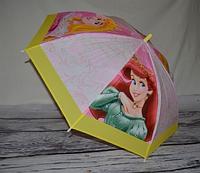 """Детский прозрачный матовый зонт """"Паровоз"""""""