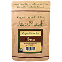 Just a Leaf Organic Tea, Hibiscus Loose Leaf Tea, Bright Fruity Flavor, 100% Pure, No GMOs, 2 oz (56 g), купить, цена, отзывы