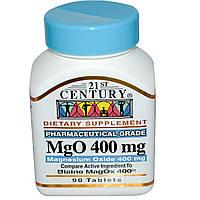 21st Century, MgO, Оксид магния, 400 мг, 90 таблеток, купить, цена, отзывы