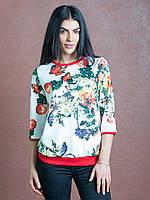 Стильный женский свитшот Флорида белого цвета