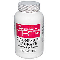 Cardiovascular Research Ltd., Таурат магния, 180 капсул, купить, цена, отзывы