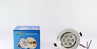 Светильник точечный светодиодный встраиваемый LED LAMP 7W, круглый светильник