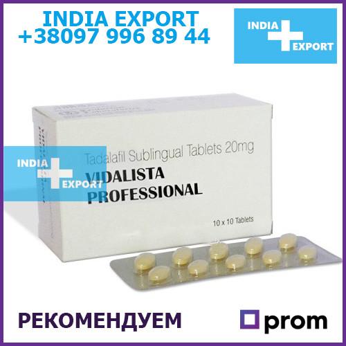 Сиалис: Vidalista Professional (Тадалафил) - 10 таб - Для потенции и эрекции