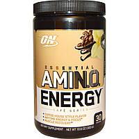 Optimum Nutrition, Essential Amino Energy, холодный кофе с ванилью, 10,6 унций (300 г), купить, цена, отзывы