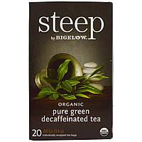 Bigelow, Стип, органический чистый зеленый чай без кофеина, 20 пакетиков, 0,86 унции (24 г), купить, цена, отзывы