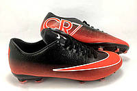 Футбольные бутсы Nike Mercurial Victory CR7 FG Black/Red