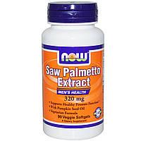 Now Foods, Экстракт ягод пальмы сереноа, Мужское здоровье, 320 мг, 90 растительных капсул, купить, цена, отзывы