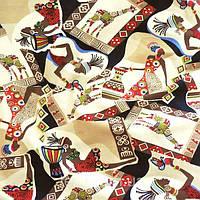 Трикотажное полотно кулир (стрейч кулир) хб/эл ринг, африка