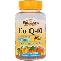 Sundown Naturals, Кофермент Q-10, вкус персика и манго, 200 мг, 50 желатиновых конфет, купить, цена, отзывы