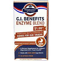 FoodScience, G.I. Benefits, смесь ферментов, 90 вегетарианских капсул, купить, цена, отзывы