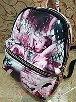 РАСПРОДАЖА Рюкзак женская Искусств кожа Принт красивый маленький городской стильный только оптом, фото 1
