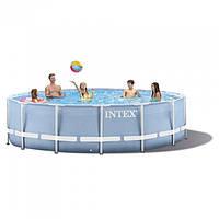 Каркасный бассейн Intex 28234/28734 (457х107 см.) + фильтр-насос(220-240V), лестница, подстилка, тент