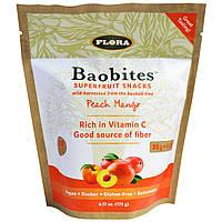 Flora, Закуски Баобайтс Суперфрут, персик и манго, 6,17 унции (175 г), купить, цена, отзывы