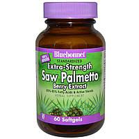 Bluebonnet Nutrition, Стандартизированный суперсильный экстракт плодов пальмы сереноа, ягодный экстракт, 60 мягких желатиновых капсул, купить, цена,