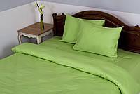 Отельное постельное белье Lotus сатин зеленое евро