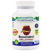 Fruitrients, Ресвератрол, 250 мг, 60 вегетарианских капсул, купить, цена, отзывы