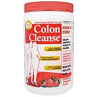 """Health Plus Inc., """"Чистка кишечника"""", средство для чистки толстого кишечника, подслащенное стевией, с освежающим клубничным вкусом, 9 унций (255 г),"""