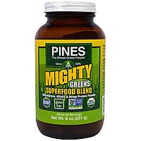 """Pines International, """"Могучая зелень"""", смесь из суперпродуктов, 8 унций (227 г), купить, цена, отзывы"""