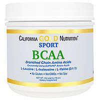 California Gold Nutrition, SPORT, AjiPure, Pure BCAA, Branched Chain Amino Acids, Gluten-Free, 16 унций (454 г), купить, цена, отзывы
