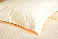 Отельное постельное белье Lotus cатин страйп 1*1 ванильное евро