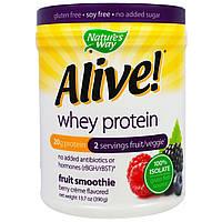 Nature's Way, Alive! Whey Protein, Berry Creme Flavored , 13.7 oz (390 g), купить, цена, отзывы