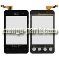 Тачскрин/Сенсор LG E405 Optimus L3 Dual Sim черный high copy