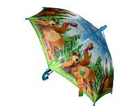 """Детский зонт """"Маша и медведь"""" (большой купол с рюшками)"""