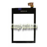 Тачскрин/Сенсор Nokia 300 Asha черный high copy