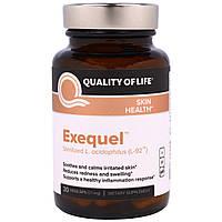 """Quality of Life Labs, """"Exequel"""", препарат со стерилизованными молочнокислыми бактериями L-92, 21 мг, 30 капсул в растительной оболочке, купить, цена,"""