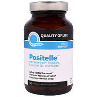 Quality of Life Labs, Positelle with Venetron, Rhodiola, Lavender Oil, and Folate, 90 Capsules, купить, цена, отзывы