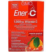 Ener-C, Витамин C, шипучий растворимый порошок для напитка со вкусом мандарина и грейпфрута, 30 пакетиков, 10,0 унций (283,5 г), купить, цена, отзывы