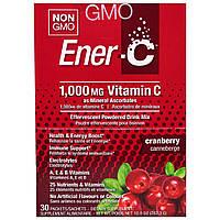 Ener-C, Витамин C, шипучий растворимый порошок для напитка со вкусом клюквы, 30 пакетиков, 10,0 унций (282,3 г), купить, цена, отзывы