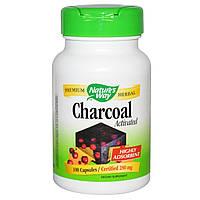 Nature's Way, Древесный уголь (Charcoal), активированный, 280 мг, 100 капсул, купить, цена, отзывы