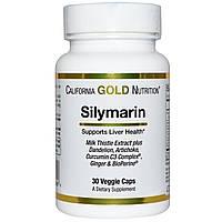 California Gold Nutrition, Экстракт расторопши пятнистой, 300 мг, 30 капсул в растительной оболочке, купить, цена, отзывы