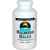 Source Naturals, Яблочнокислый магний, 1,250 мг, 360 таблеток, купить, цена, отзывы